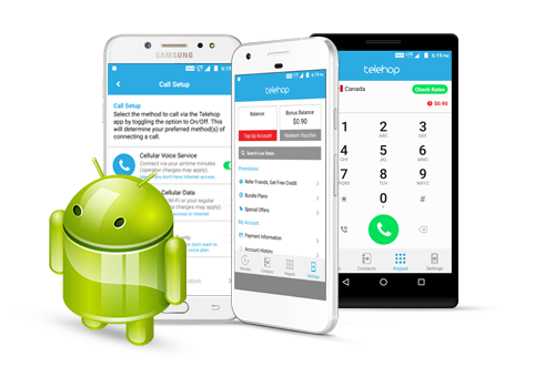 Download the Telehop app your Android devices